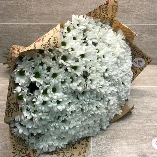 Букет из 51 веточек кустовых хризантем: букеты цветов на заказ Flowwow