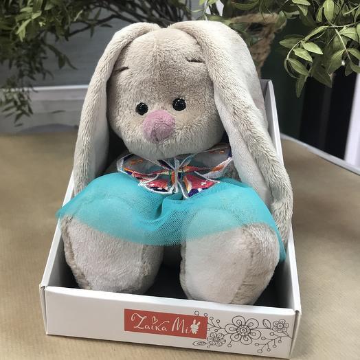 Заяц игрушка: букеты цветов на заказ Flowwow