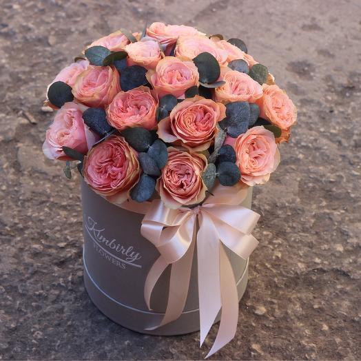 19 роз кахала в коробке: букеты цветов на заказ Flowwow