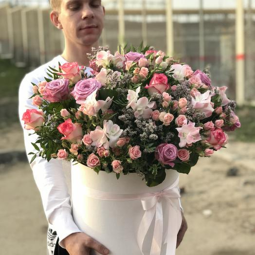 Большая Коробка микс Цветов: букеты цветов на заказ Flowwow