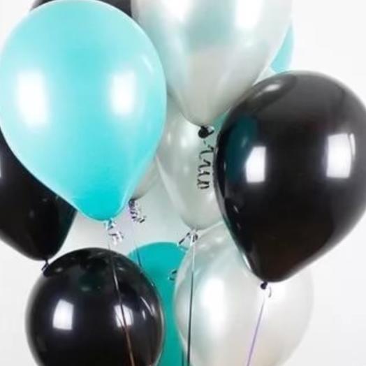 Черные и голубые шары