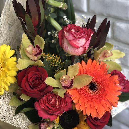 Букет «Фэншуй» с орхидеями: букеты цветов на заказ Flowwow