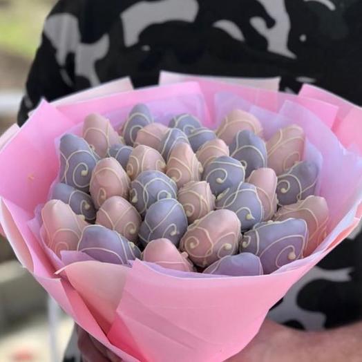 """Клубничный букет """"Icecream """": букеты цветов на заказ Flowwow"""