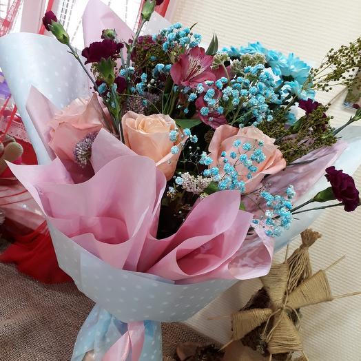 Голубые грезы: букеты цветов на заказ Flowwow