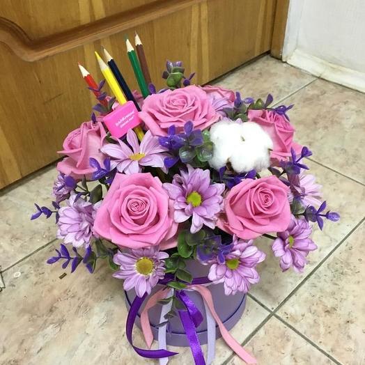 Сиреневое настроение учителя: букеты цветов на заказ Flowwow
