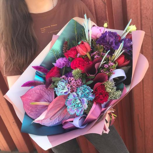 """Сборный букет """"Невероятный комплимент"""": букеты цветов на заказ Flowwow"""
