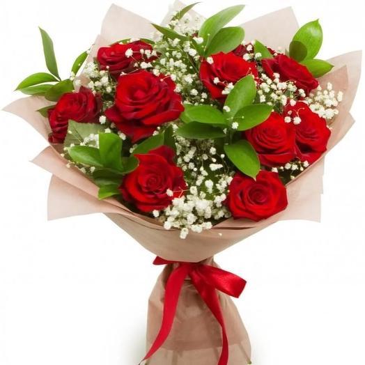 11 красных роз Эквадор