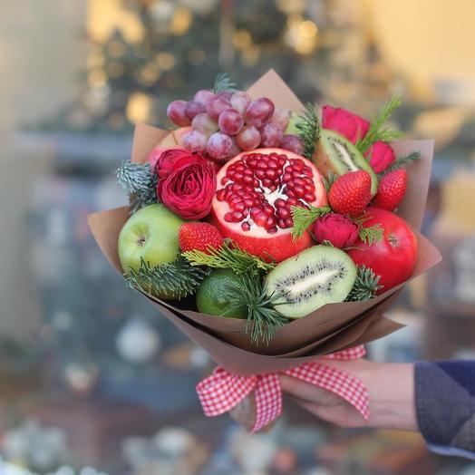 Зимняя клубника: букеты цветов на заказ Flowwow
