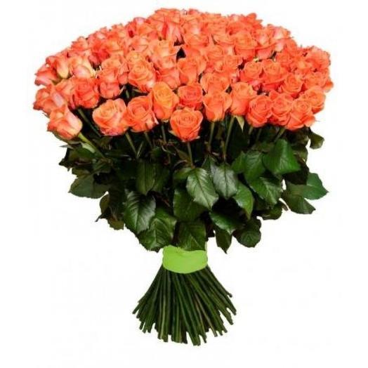 101 коралловая роза 40 см