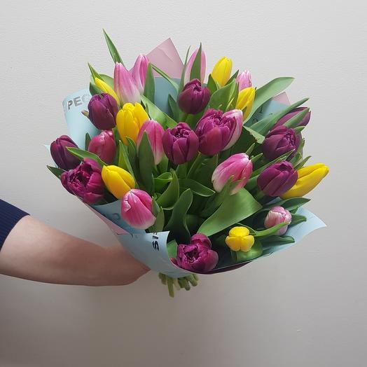Тюльпаны микс 27: букеты цветов на заказ Flowwow