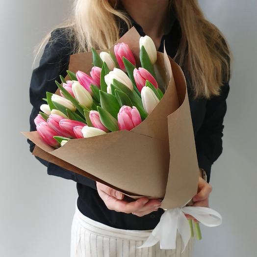 Нежные тюльпаны-25шт: букеты цветов на заказ Flowwow