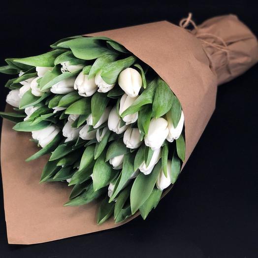 35 тюльпан в крафте