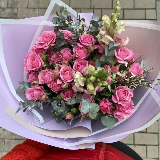 Моно из кустовых роз: букеты цветов на заказ Flowwow