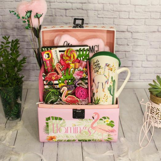 Подарочный набор «Flamingo. Розовые мечты»: букеты цветов на заказ Flowwow