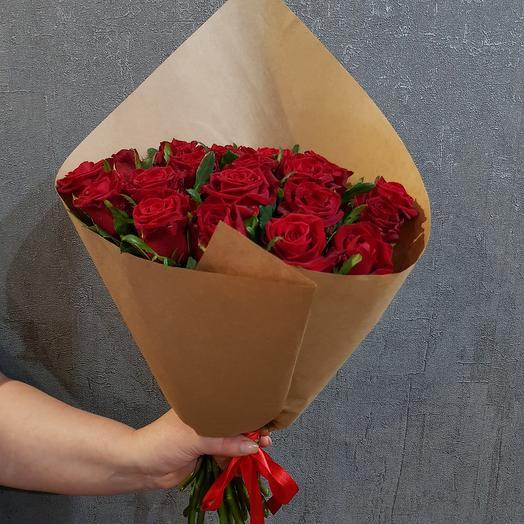 Роза в крафте