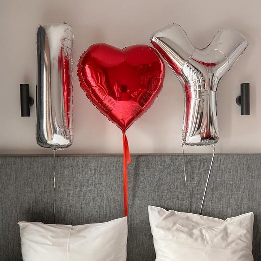 Сет из шаров I love Y