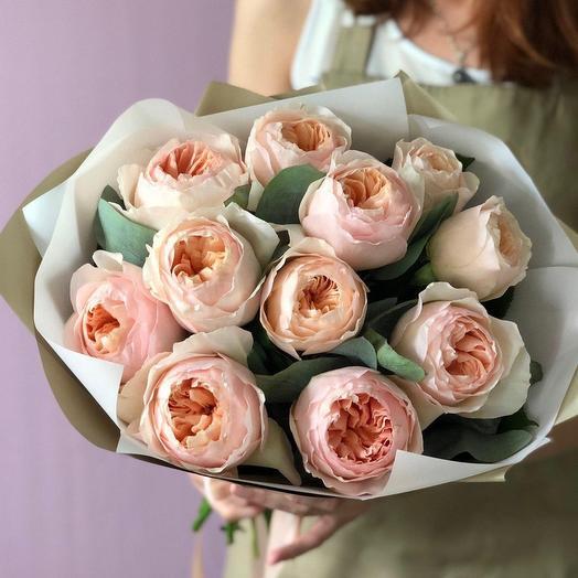 Букет из пионовидной розы David Ostin
