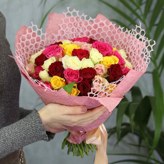 Букет из 51 розы микс (50 см)