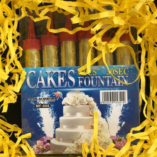 Фонтаны на торт