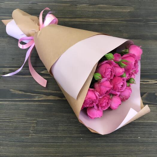 Peony-shaped rose in crafting