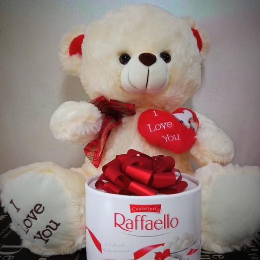 Мишка+ торт Раффаэлло