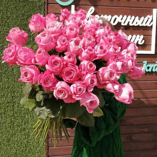 Букет из 51 пионовидной розы Oll for love (Все для любви)