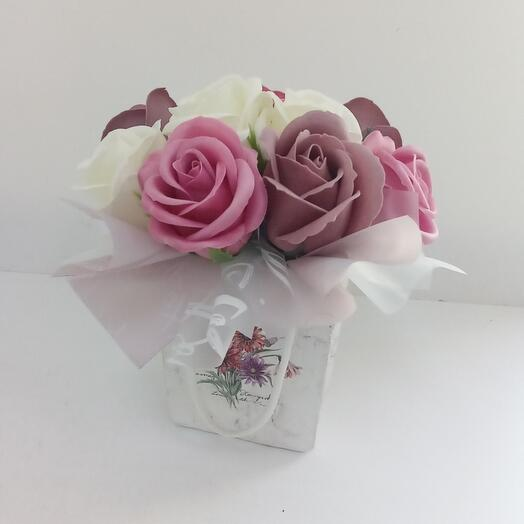 Mini Gift of soap flowers