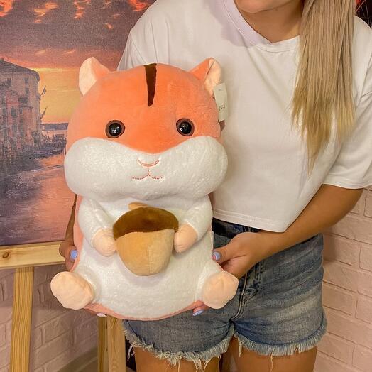 Мягкая игрушка хомяк 35 см
