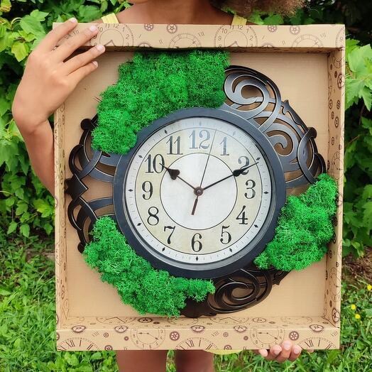 Часы со стабилизированным мхом