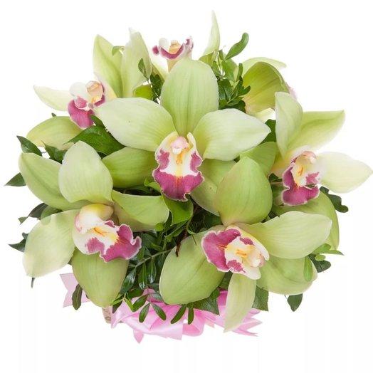 Композиция с орхидеями Маленький принц: букеты цветов на заказ Flowwow