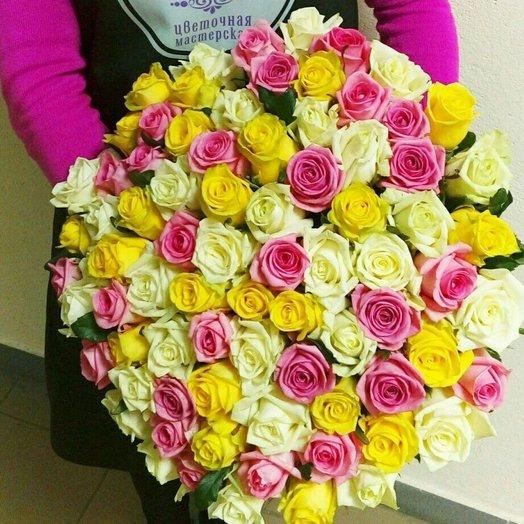 Букет 77 роз