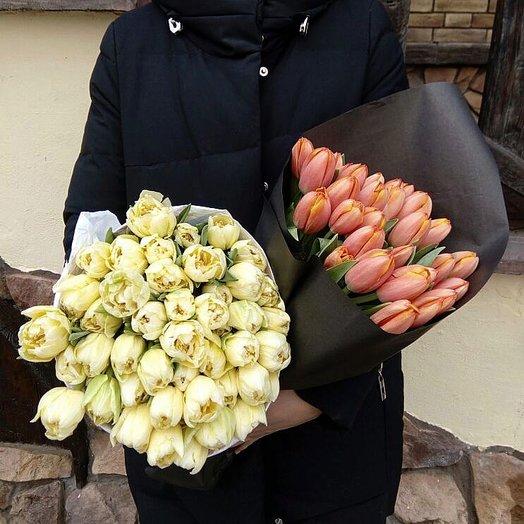 Моно тюльпаны: букеты цветов на заказ Flowwow