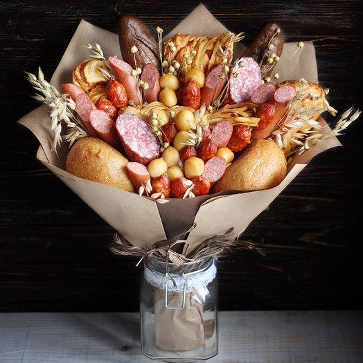 Мужской Букет Хозяин Полей: букеты цветов на заказ Flowwow