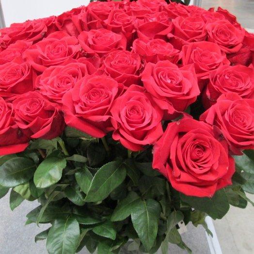 Роза красная страсть 70: букеты цветов на заказ Flowwow