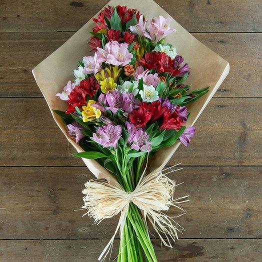 Букет разноцветной альстромерии.: букеты цветов на заказ Flowwow
