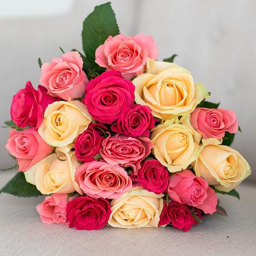 21 роза 40 см