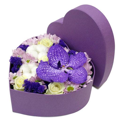 Сердце в коробочке 1: букеты цветов на заказ Flowwow