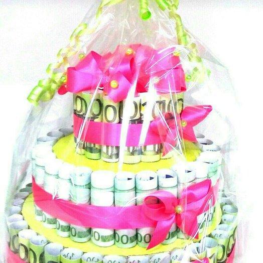 Денежный торт: букеты цветов на заказ Flowwow