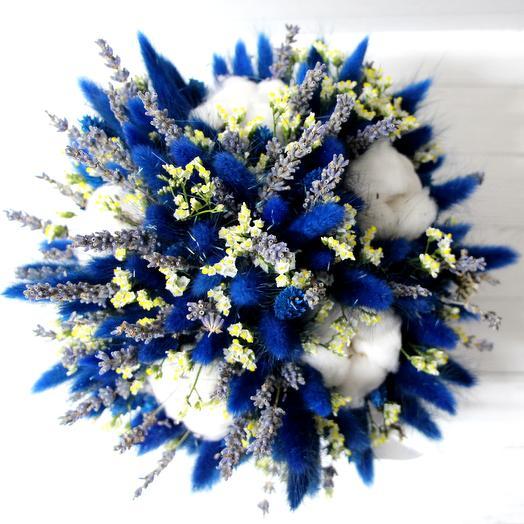 Букет из сухоцветов в шляпной коробке: букеты цветов на заказ Flowwow