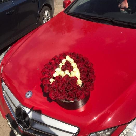 """Красные розы в коробке """"Аврора"""": букеты цветов на заказ Flowwow"""