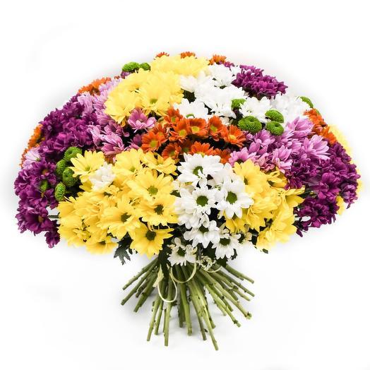 Букет с хризантемами: букеты цветов на заказ Flowwow