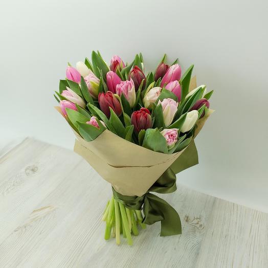 Букет из тюльпанов разных сортов: букеты цветов на заказ Flowwow