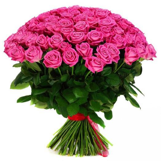 "Букет из 55 роз ""Любовный настрой"": букеты цветов на заказ Flowwow"