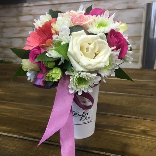 Стаканчик Радости: букеты цветов на заказ Flowwow