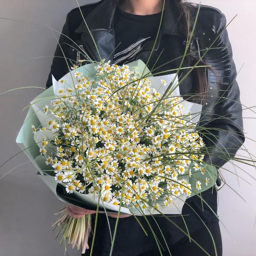 Полевые Ромашки: букеты цветов на заказ Flowwow