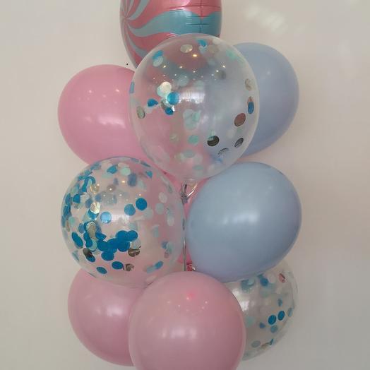 Фонтан из 10 шаров: букеты цветов на заказ Flowwow