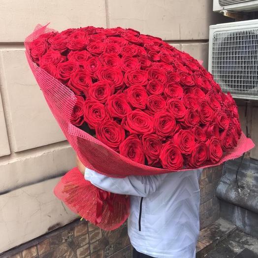 151 роза, 80см: букеты цветов на заказ Flowwow