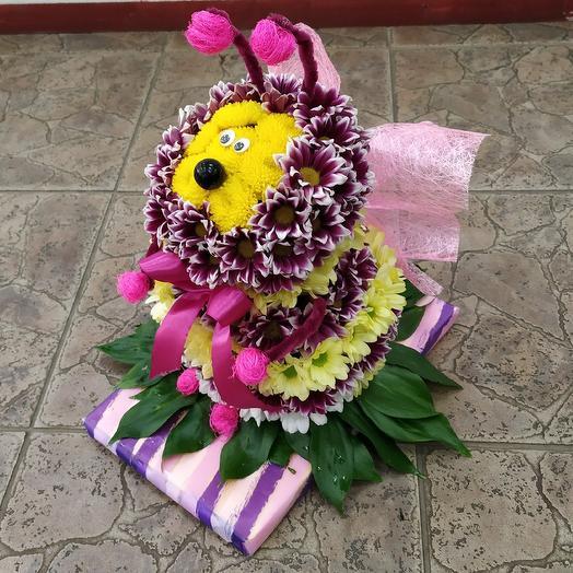 Забавная пчёлка 🐝 из живых цветов: букеты цветов на заказ Flowwow