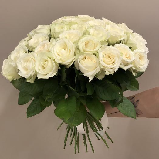 Букет из белых роз 45 шт: букеты цветов на заказ Flowwow