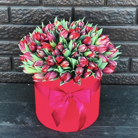 101 махровый тюльпаны «Эмоции»: букеты цветов на заказ Flowwow